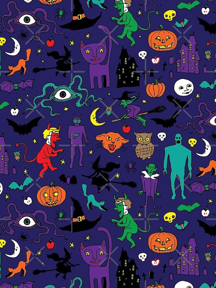 Retro Halloween - original - Halloween pattern by Cecca Designs by Cecca-Designs