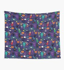 Retro Halloween - original - Halloween pattern by Cecca Designs Wall Tapestry