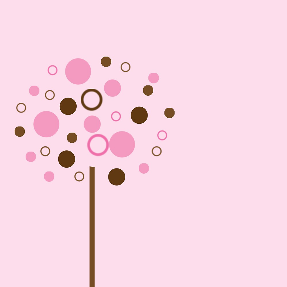 Pink Bubblegum Tree by Sarah Stallings