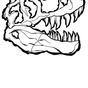 T-Rex Skull by howyadoin