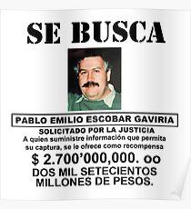 Pablo Mugshot Polizeikartell Poster