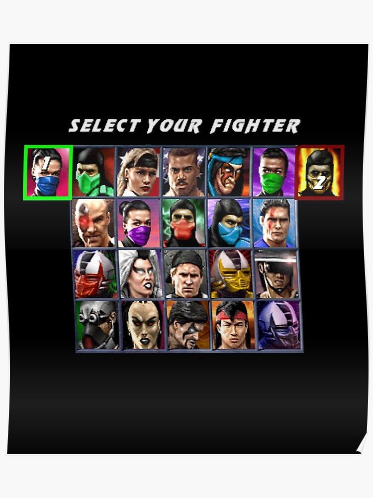Ultimate Mortal Kombat 3 Character Select | Poster
