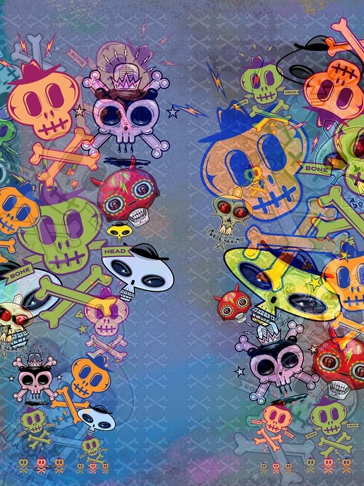 Skull Leggings Unisex by Ruffmouse