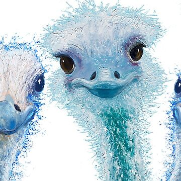 I'm cute - let's put me in charge! Ostriches by MatsonArtDesign