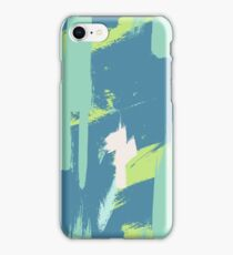 Green expressive pattern iPhone Case/Skin