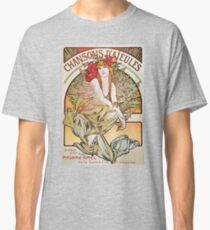 Alphonse Mucha T-Shirt - Chansons D'Aieules - Theater-Plakat - Kunst Nouveau T-Shirt Classic T-Shirt
