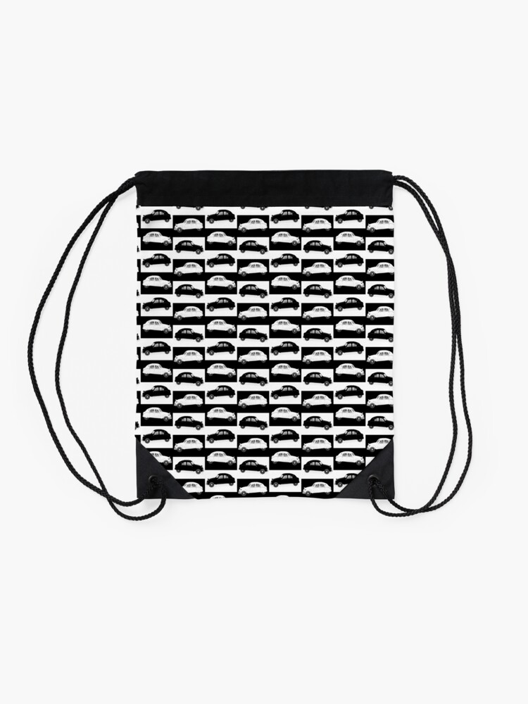Alternate view of Citroen 2CV Pattern Drawstring Bag
