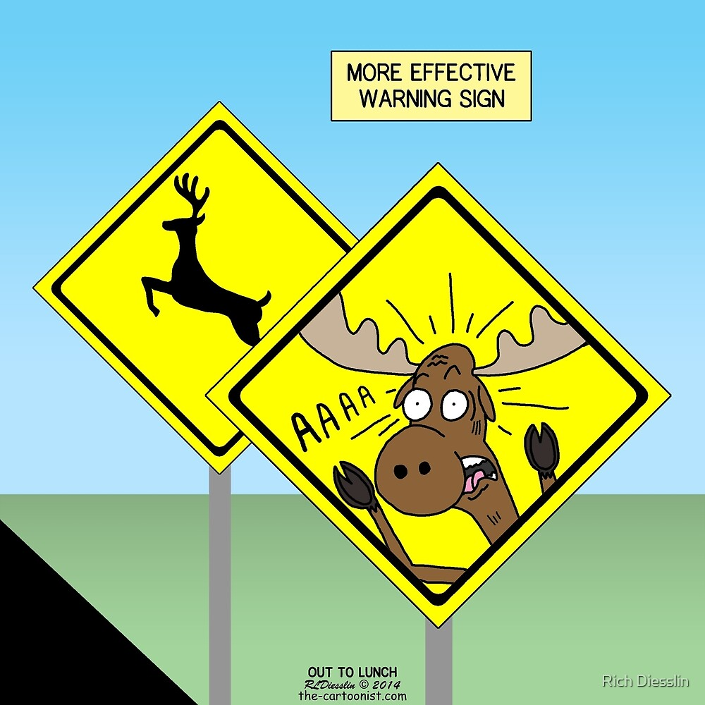a more effective deer or moose crossing sign by rich diesslin
