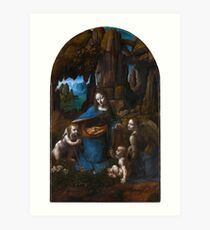 Leonardo da Vinci - Virgin of the Rocks (1508) Art Print