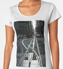 San Francisco Silver Cable Car Tracks Women's Premium T-Shirt