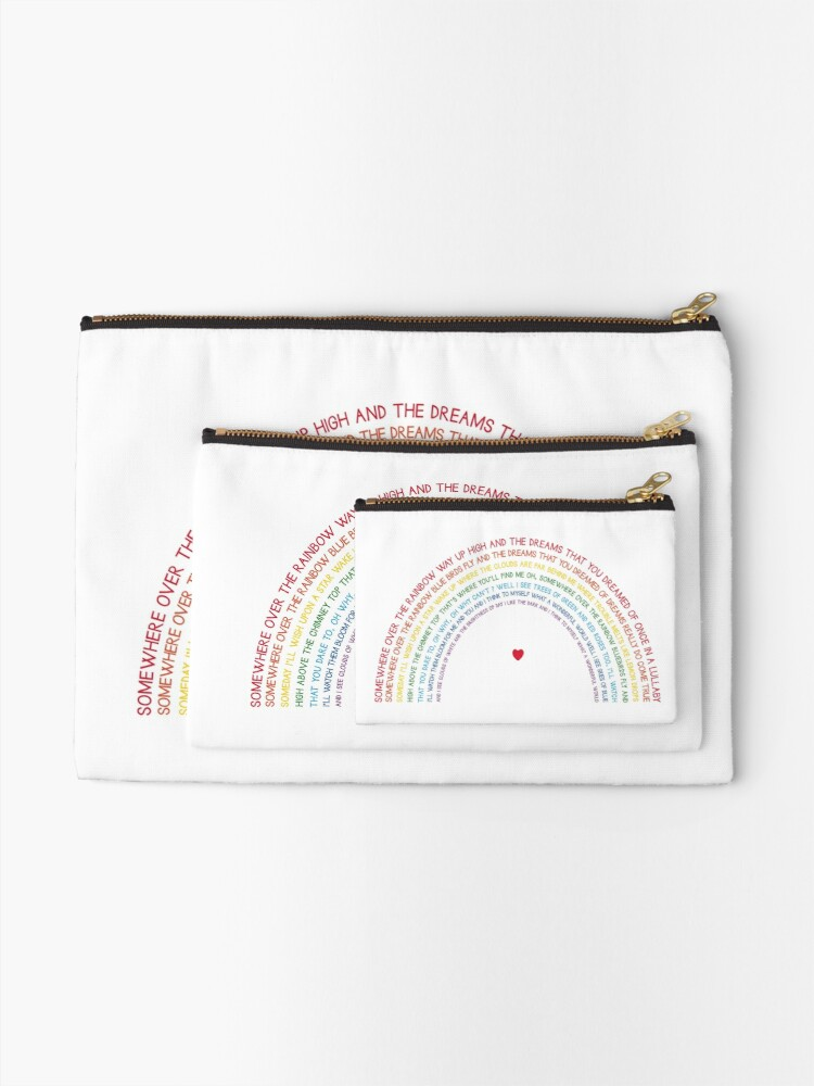 Alternate view of Somewhere over the Rainbow Zipper Pouch