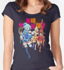 Konosuba! Women's Fitted Scoop T-Shirt
