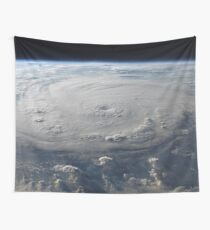 Hurricane From Space Wall Tapestry