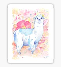 Cute Llama Illustration - Watercolour Animals Sticker