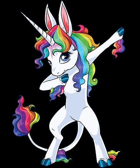 Unicorn dabbing dab dance tshirt posters by liquegifts redbubble - Unicorn dabbing pictures ...