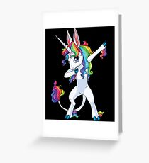 Unicorn Dabbing - Dab Dance Tshirt Greeting Card