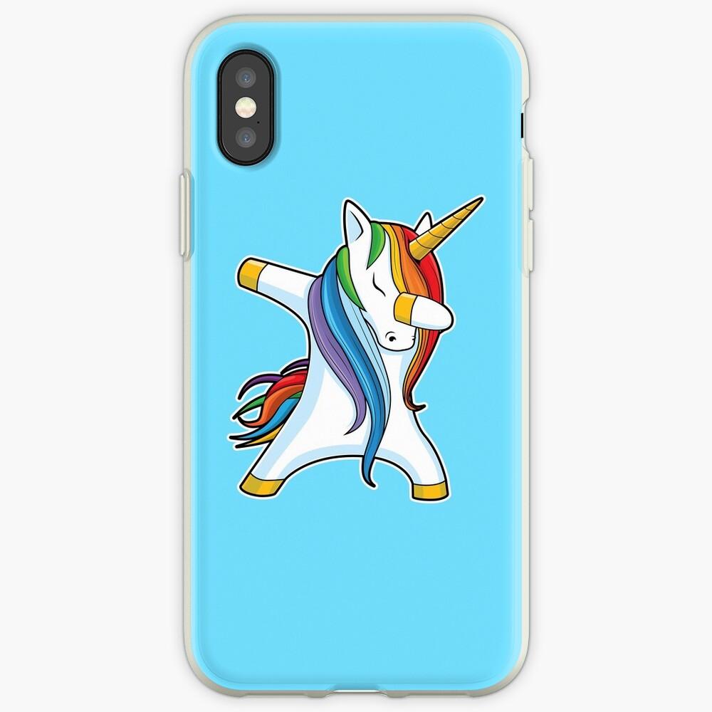 Dabbing Unicorn Shirt Cute Funny Unicorns T shirt Gifts for Kids Girls Boys Women Men iPhone Case & Cover