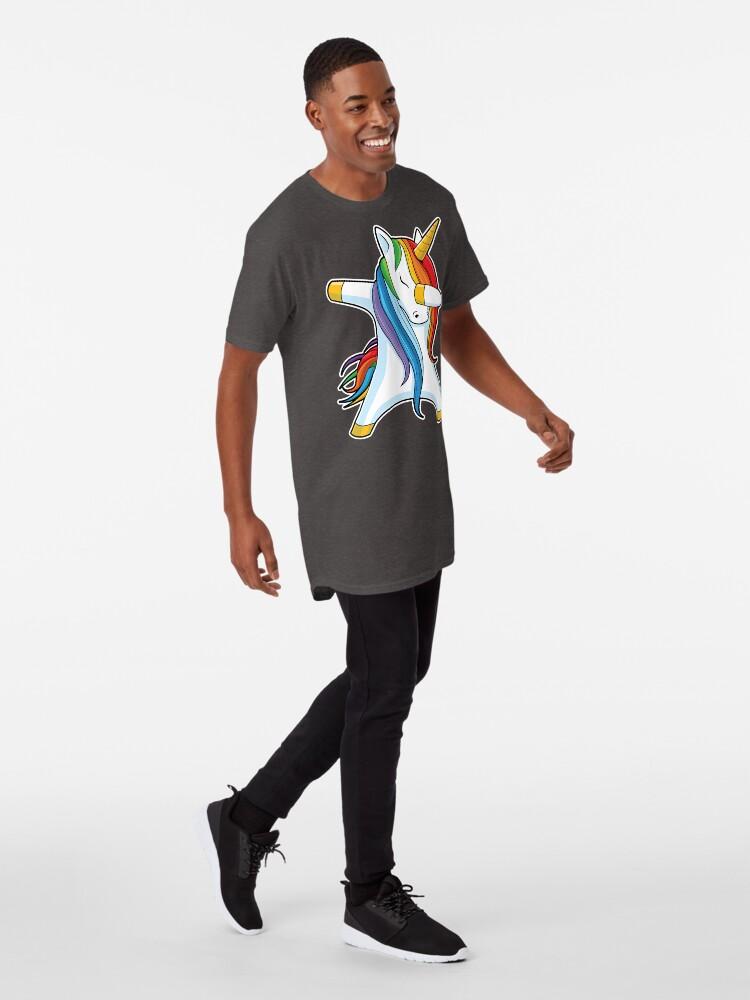 Alternate view of Dabbing Unicorn Shirt Cute Funny Unicorns T shirt Gifts for Kids Girls Boys Women Men Long T-Shirt