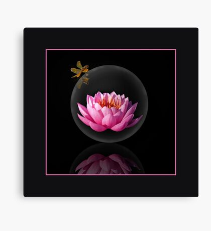 Lily Under Glass Canvas Print