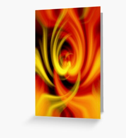 Hot Love Flame Heart Greeting Card