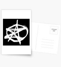 AZ signature Logo White Postcards