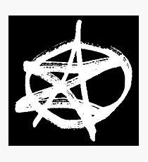 AZ signature Logo White Photographic Print
