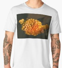 Chrysanthemum Gently Floating in the Fountain of Campo de Fiori, Rome, Italy Men's Premium T-Shirt