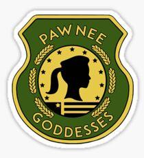pawnee goddess small sticker Sticker