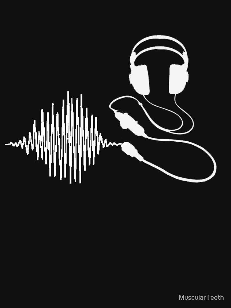 Headphones II White by MuscularTeeth