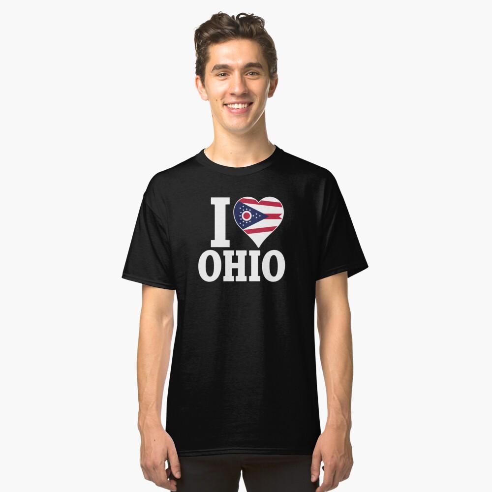 I love Ohio flag t-shirt Classic T-Shirt Front