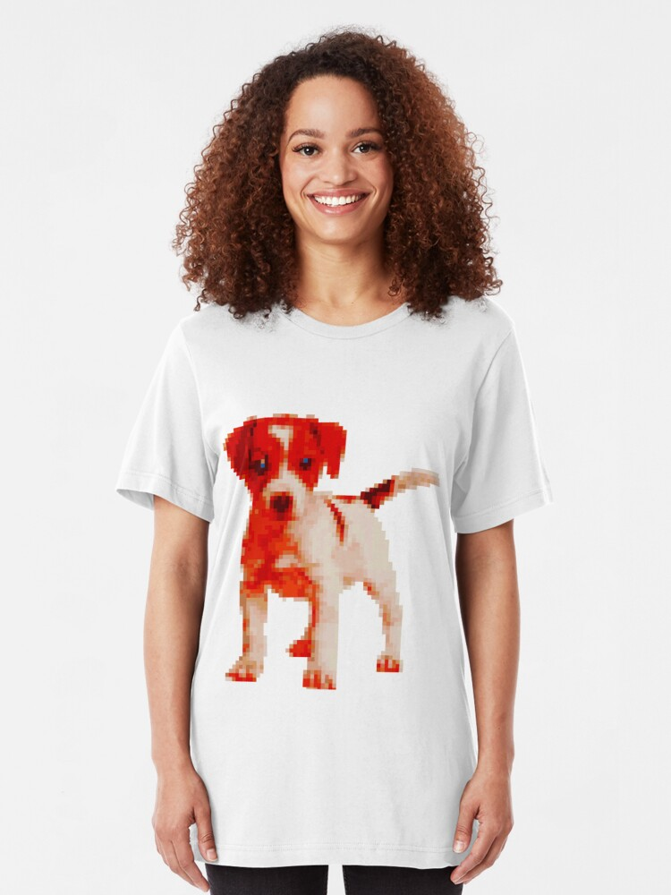 Pixel Puppy Le Chien Virtuel Le Plus Mignon Au Monde T Shirt Ajusté