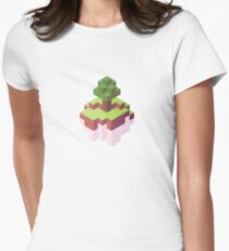 Minecraft Simple Floating Island - Isometric Womens Fitted T-Shirt