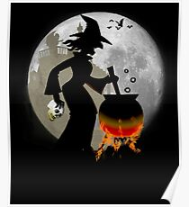 Halloween - Funny Spooky Scary Witch Party T-shirt Poster