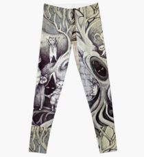 they danced under the light of the moon cat art Leggings