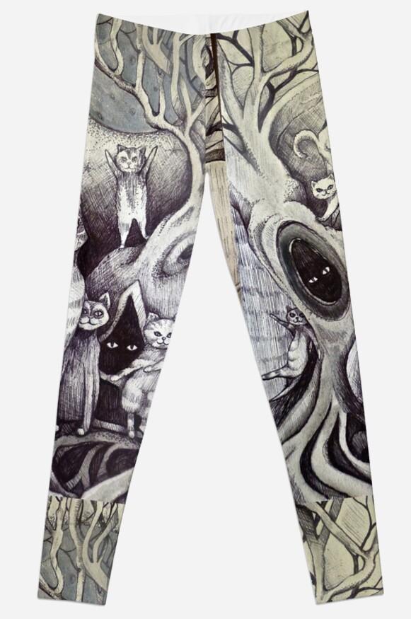 they danced under the light of the moon cat art by melaniedann