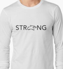 STJ - Strong (In Black) Long Sleeve T-Shirt