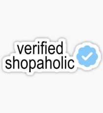 Verified Shopaholic Sticker