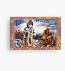 Krishna Preaching Arjuna - Bhagwat Geeta Canvas Print