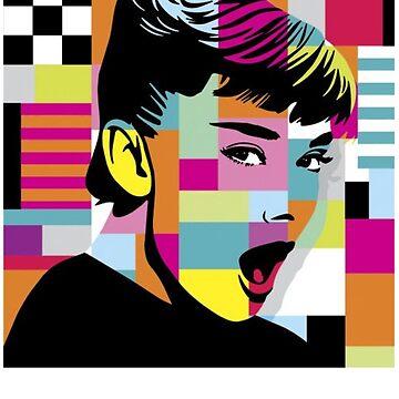 Audrey Hepburn Pop Art by comunicator
