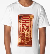 Vintage License Plate Long T-Shirt
