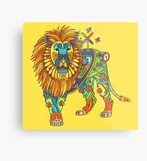 Lion, from the AlphaPod collection Metal Print