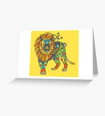 Lion, from the AlphaPod collection Greeting Card