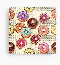 I Love Donuts Yummy Baked Goodies Sugary Sweet Metal Print