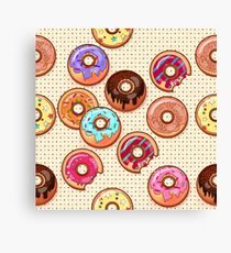 I Love Donuts Yummy Baked Goodies Sugary Sweet Canvas Print