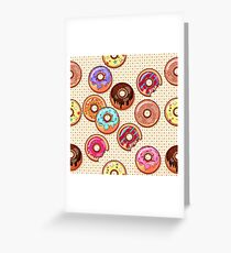I Love Donuts Yummy Baked Goodies Sugary Sweet Greeting Card