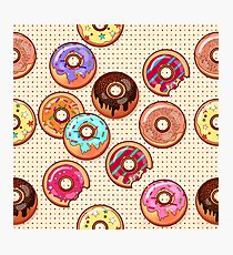 I Love Donuts Yummy Baked Goodies Sugary Sweet Photographic Print