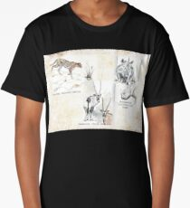 Lodge décor - Wildlife Triptych Long T-Shirt