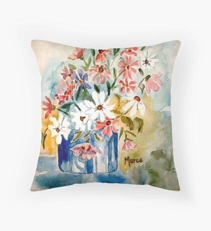 Cosmos in a pot Throw Pillow