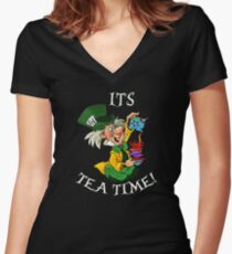 its tea time Women's Fitted V-Neck T-Shirt