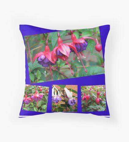 Tanzen Fuchsia Belles - Sommer-Blumen-Collage Dekokissen